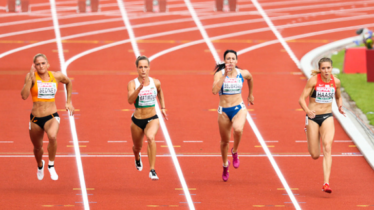 Инна Ефтимова остана под №16 в крайното класиране на 60 метра