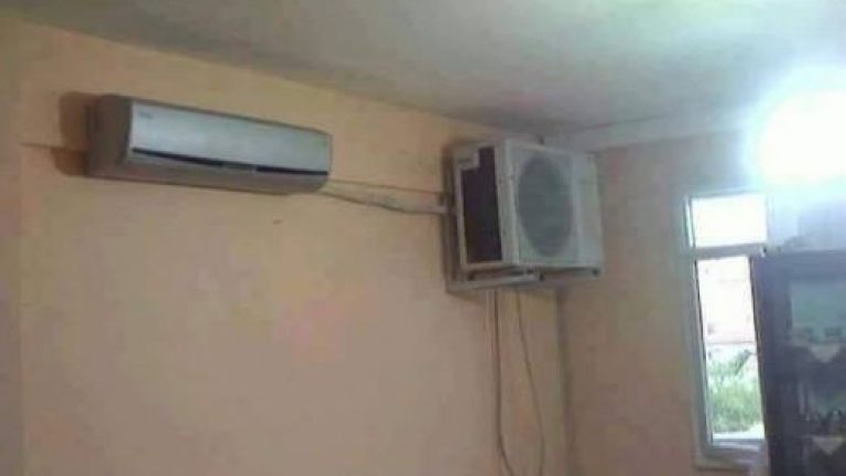 Роми сложиха климатика така!