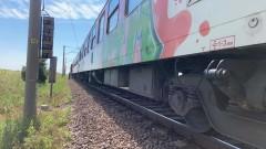Локомотив пламна на гарата в Зверино