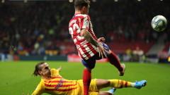 Атлетико отряза Манчестър Юнайтед за защитник
