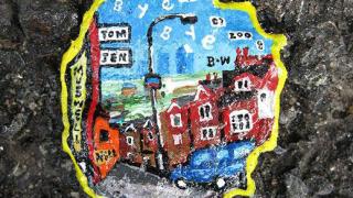 Рисунки върху размазаните дъвки по улиците (галерия)