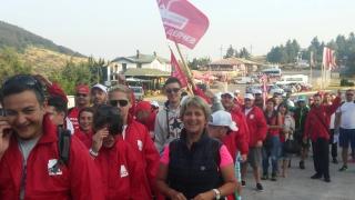 Весела Лечева поведе 125 млади социалисти към Бузлуджа