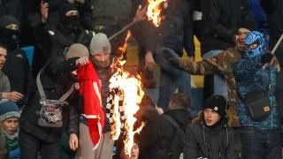 Десетима наръгани при сблъсъци между украински и турски фенове в Киев