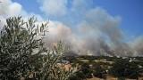 Горски пожар бушува на гръцкия остров Китира
