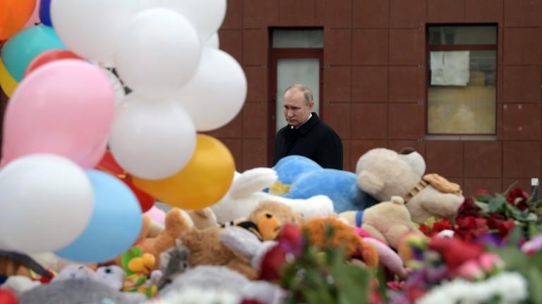 Руският президент Владимир Путин говори за причините за пожара в