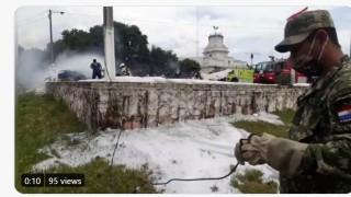 В Парагвай се разби военен самолет