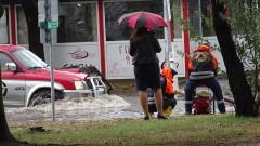 Порой в Търново наводни къщи и улици