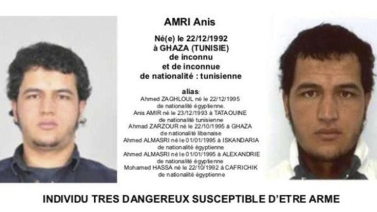 Тунизиецът Анис Амри, който се вряза с откраднат от него