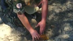 Сапьори унищожиха невзривена мина, намерена от полицаи край Казанлък
