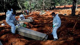 Бразилия вече е втора в света по броя на заразените със SARS-CoV-2
