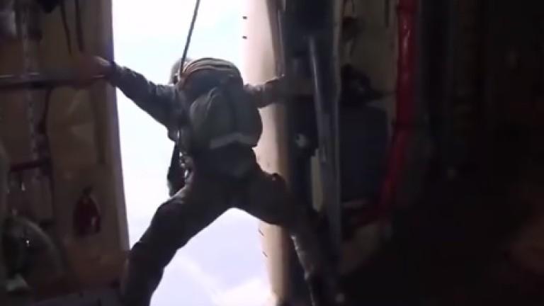 Тренировка на турските парашутисти