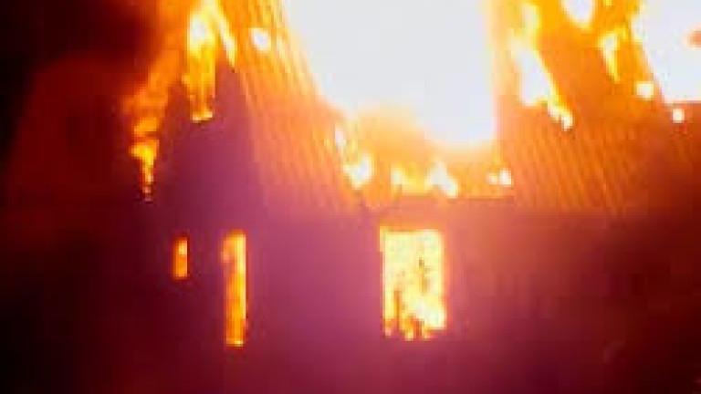 Пожар гори в Магнитогорск
