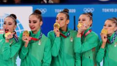 Министър Кузманов поздрави ансамбъла по художествена гимнастика
