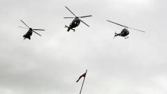 Военни вертолети поздравяват и пловдивчани за празника