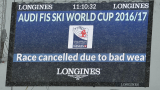 Лошото време отмени стартовете в алпийските ски