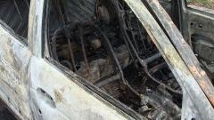 Кола изгоря до жп гарата в Асеновград