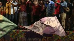Дилма Русеф излезе на протест