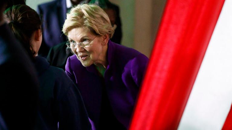 За първи път Елизабет Уорън е топ кандидатът на демократите за президент
