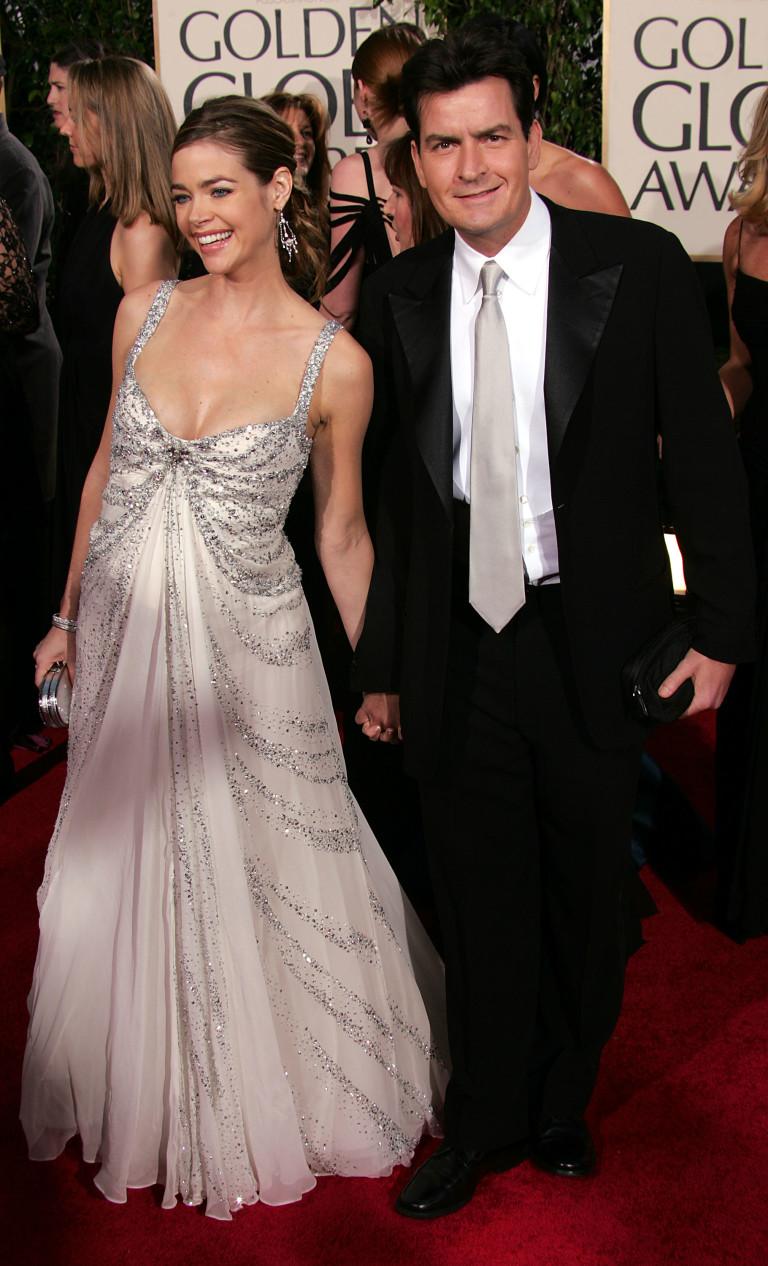Чарли Шийн и Денис Ричардс през 2005 г.