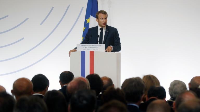 Президентът на Франция Еманюел Макрон заяви, че ще представи нови