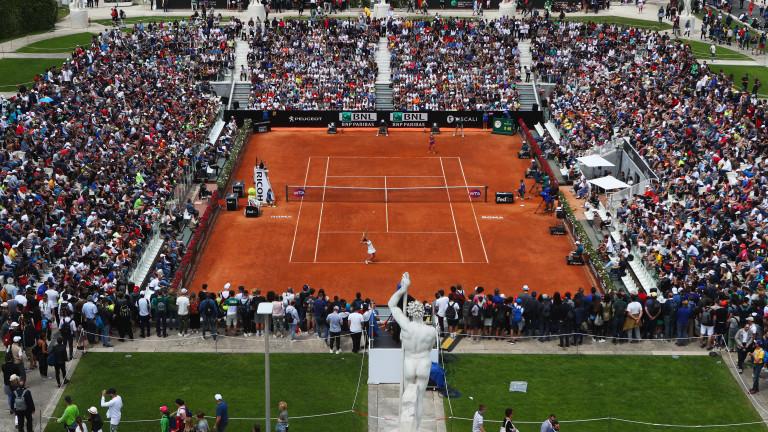 """Всички резултати от първия кръг на """"Мастърс"""" 1000 в Рим"""