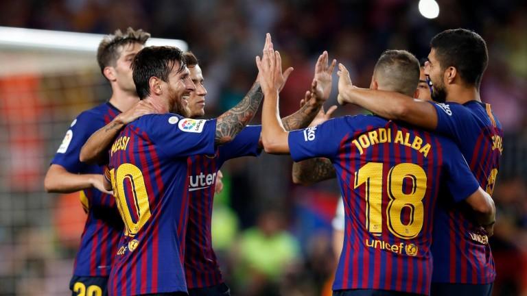 Барселона разгроми Уеска с 8:2 в последния си мач от