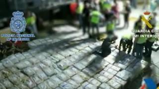 В Испания хванаха 4 т. кокаин