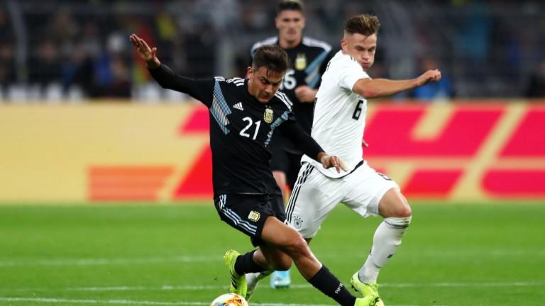 Германия и Аржентина завършиха наравно 2:2 в контролна среща, играна