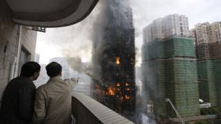 Четирима задържани за пожара в Шанхай