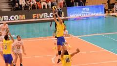 Българските волейболисти загубиха от Бразилия мач, който не се опитаха да спечелят
