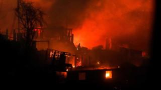 Пожар изпепели 120 къщи на Бъдни вечер в чилийския град Валпараисо