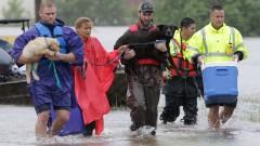 Язовирите в Хюстън преливат след рекордните валежи от урагана Харви