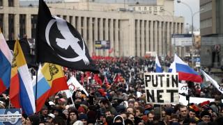 Хиляди протестират в Москва за интеренет свобода