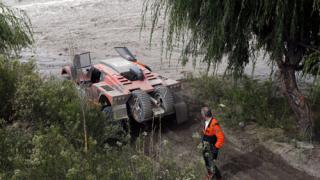 """Потоп прекрати осмия етап на рали """"Дакар"""""""