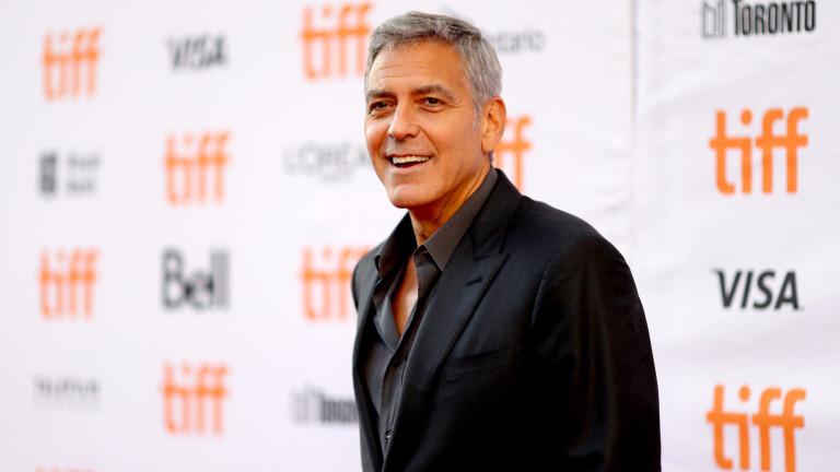 Джордж Клуни претърпя инцидент