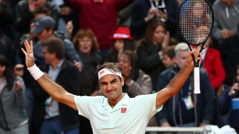 """Федерер се поспести срещу номер 144 в света, но продължава напред на """"Ролан Гарос"""""""