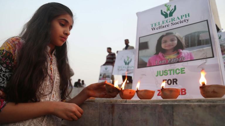 Най-малко трима отговорни за изнасилването и убийството на Зайнаб в Пакистан