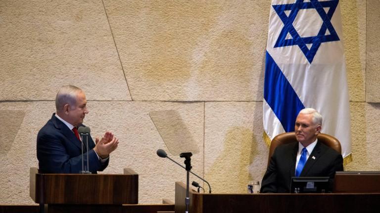 Вицепрезидентът на САЩ Майк Пенс се зарече в реч пред