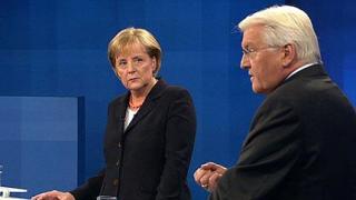 Меркел изостава от Щайнмайер след предизборен дебат