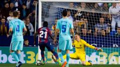 9-голово шоу, два хеттрика, зрелище и загуба за Барселона! Каталунците се спасиха от разгром срещу Леванте!