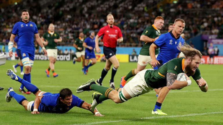Ръгбистите на Южна Африка отбелязаха седем есета срещу Италия и
