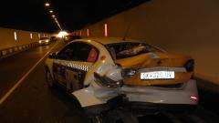 Верижна катастрофа затвори частично тунела при Железница