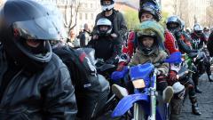 Мотористи протестираха пред Съдебната палата