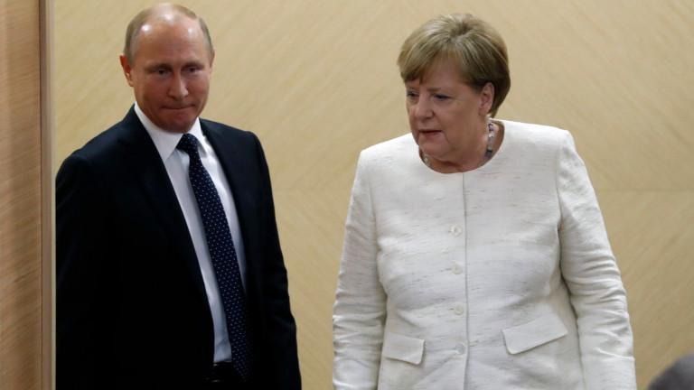 Меркел и Путин обсъдиха Украйна, Сирия и Либия