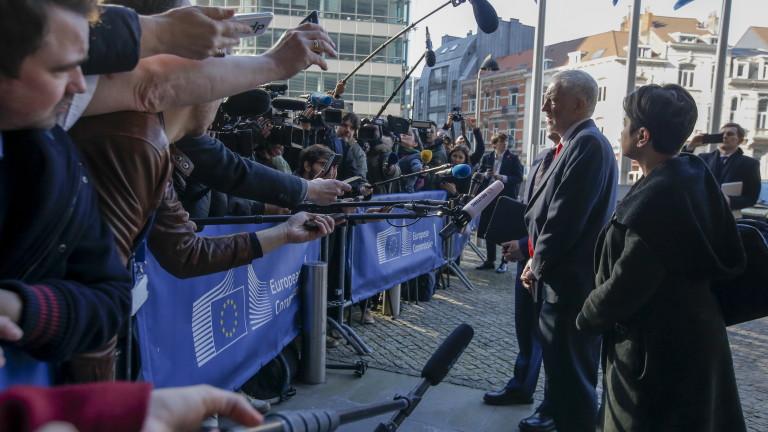 Снимка: Корбин след среща с Барние: Заплахата от Брекзит без сделка е много сериозна