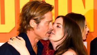 Лена Дюнам за целувката с Брад Пит