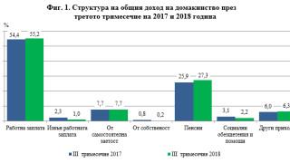 НСИ отчете 7,7% средно увеличение на доходите и 9,8% на разходите за година