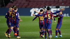 Барса показа характер срещу корави баски и се изкачва нагоре в Ла Лига