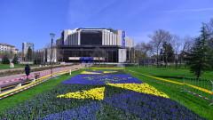 Холандските лалета пред НДК цъфнаха с логото на европредседателството ни