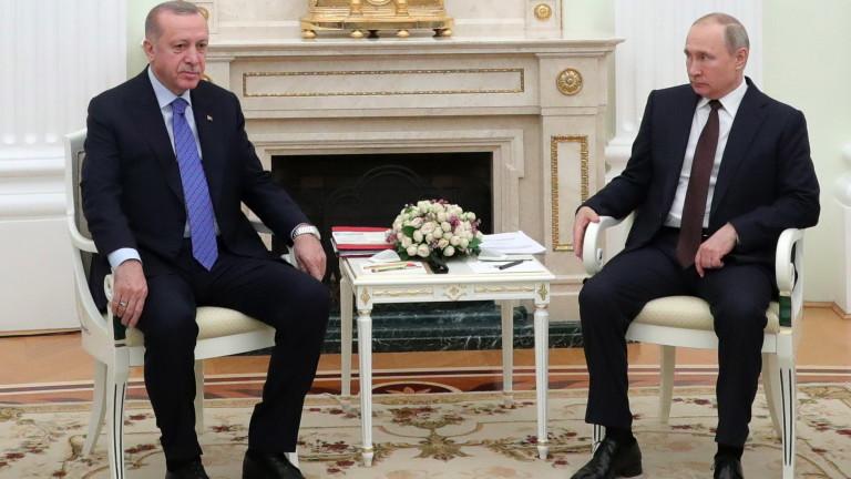 В Москва Ердоган разбра, че руският сладолед е горчив
